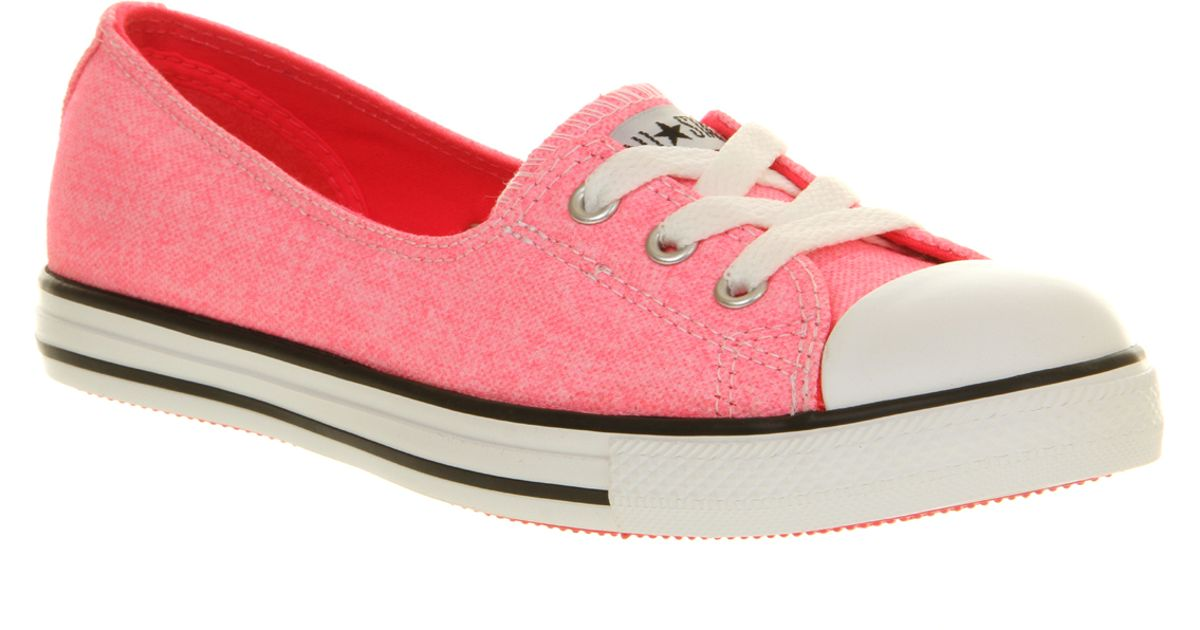 758ebbe3390150 Lyst - Converse Dance Lace in Pink