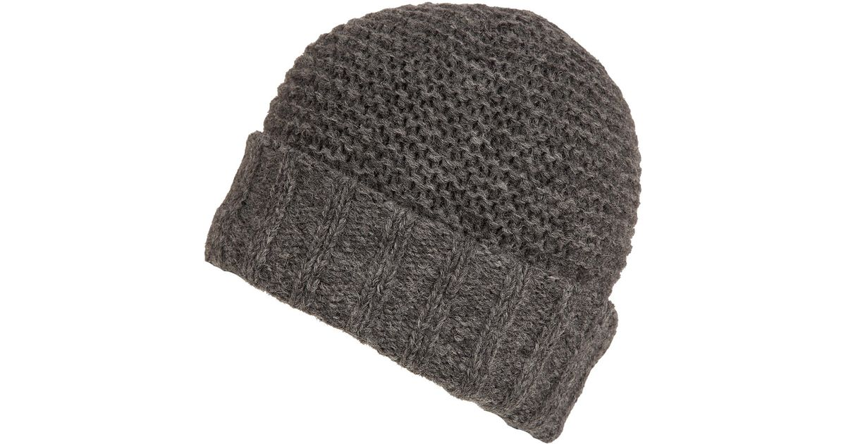 Inverni Charcoal Alpaca Beanie Hat in Gray for Men - Lyst 94b232ea91d6