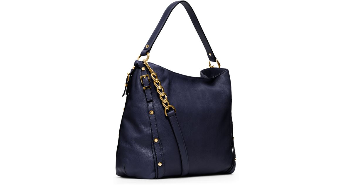 fe93a8788a Lyst - MICHAEL Michael Kors Large Leigh Shoulder Bag in Blue