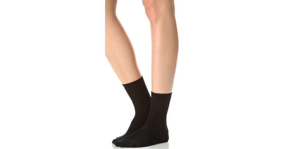 falke family ankle socks in black lyst. Black Bedroom Furniture Sets. Home Design Ideas