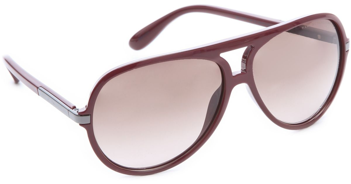 Marc Jacobs Oversized Aviator Sunglasses  marc by marc jacobs oversized aviator sunglasses havana in