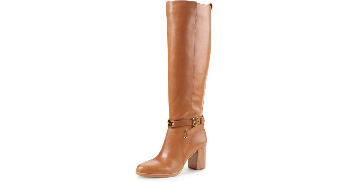 fa4011d6d4c Lyst - MICHAEL Michael Kors Arley Riding Boot in Brown