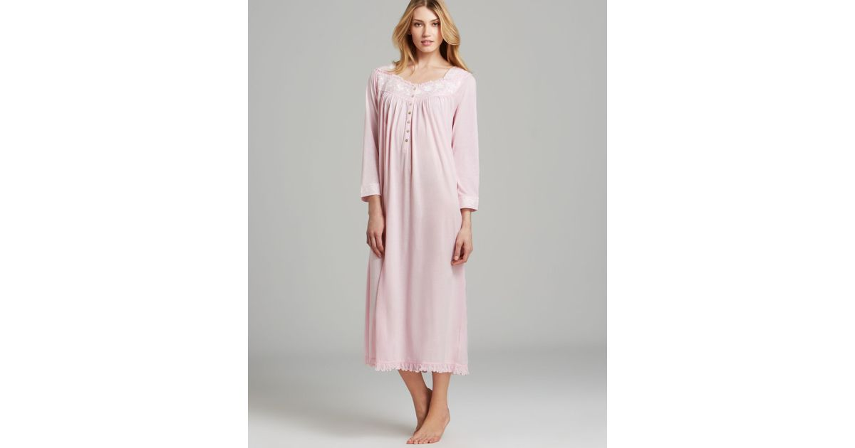 Lyst - Eileen West Blissful Poetry Long Sleeve Ballet Nightgown in Pink f6fcf1ebd