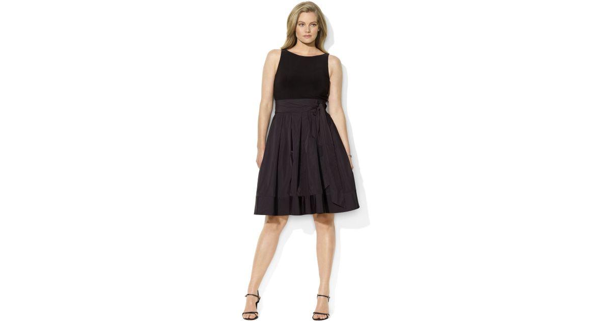 Lyst Lauren By Ralph Lauren Plus Size Dress Pleated Cocktail Dress