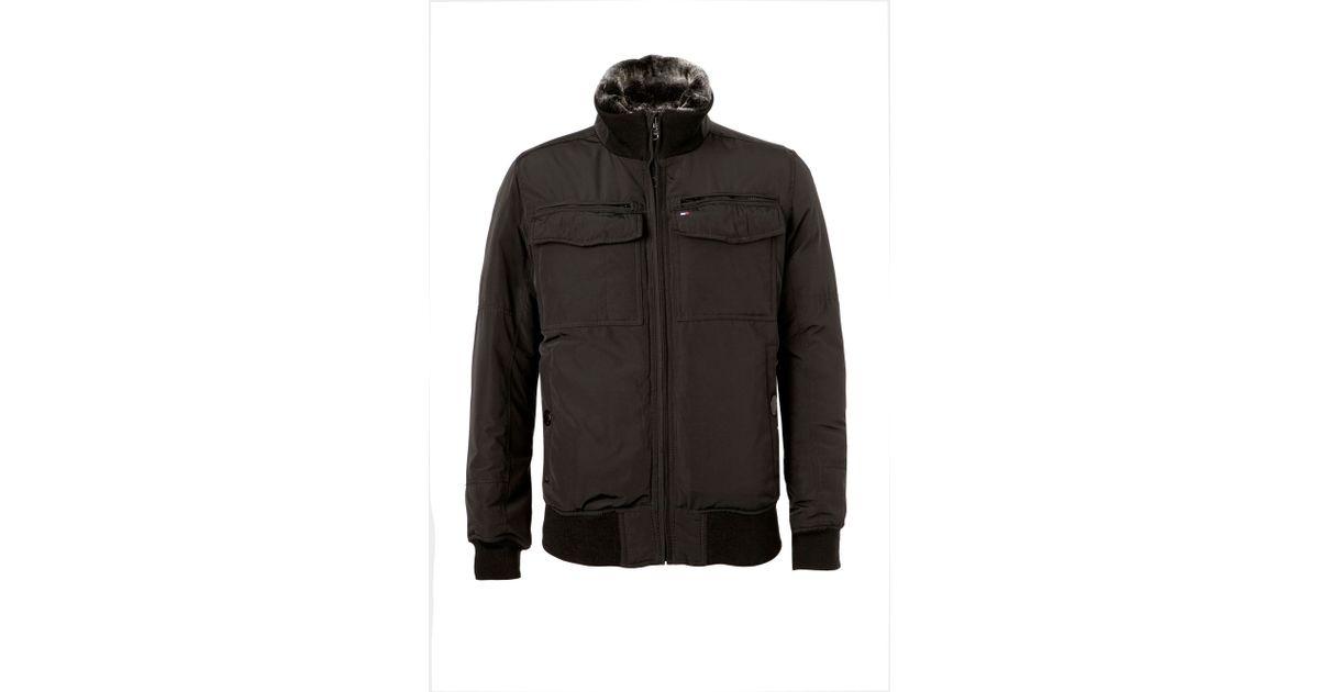 Tommy hilfiger Ken Bomber Jacket in Black for Men | Lyst