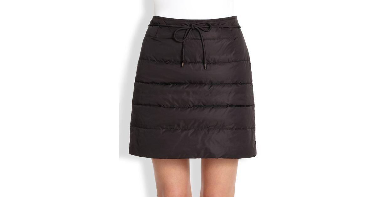 3da8a9dec Weekend by Maxmara Pilade Quilted Puffer Skirt in Black - Lyst