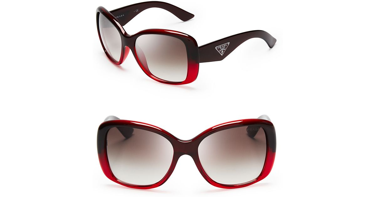 d98fc9f876 ... spain lyst prada galleria triangle logo sunglasses in red b8181 abcfa