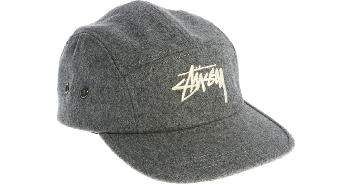 Lyst - Penfield Stussy Classic Melton 5 Panel Cap in Gray for Men 553106d256d