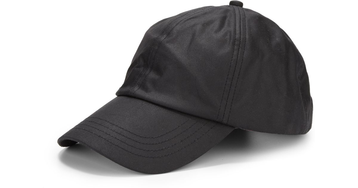 Lyst - Barbour Waxed Cotton Sports Cap in Black for Men 56d93c19b93