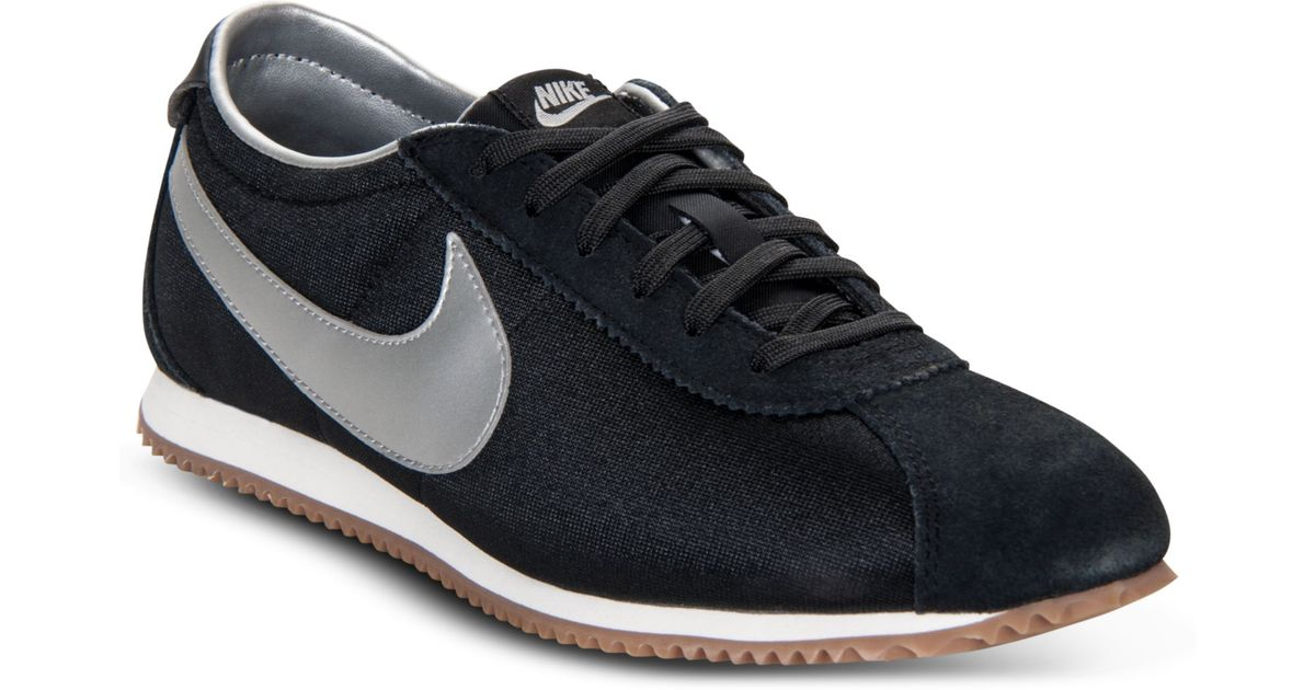 superior quality 35190 26b42 ... spain lyst nike cortez lite txt casual sneakers in black 5adf0 c0625
