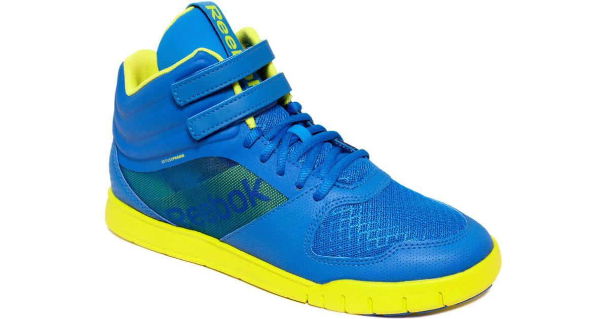 6709bcd0fbd Lyst - Reebok Dance Urlead Mid Sneakers in Blue