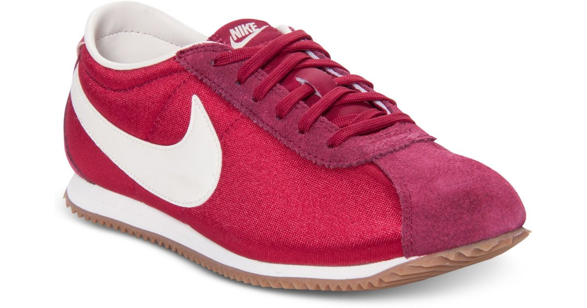 super popular 7607e 7a68e ... italy lyst nike cortez lite txt casual sneakers in red 5d97b bed99