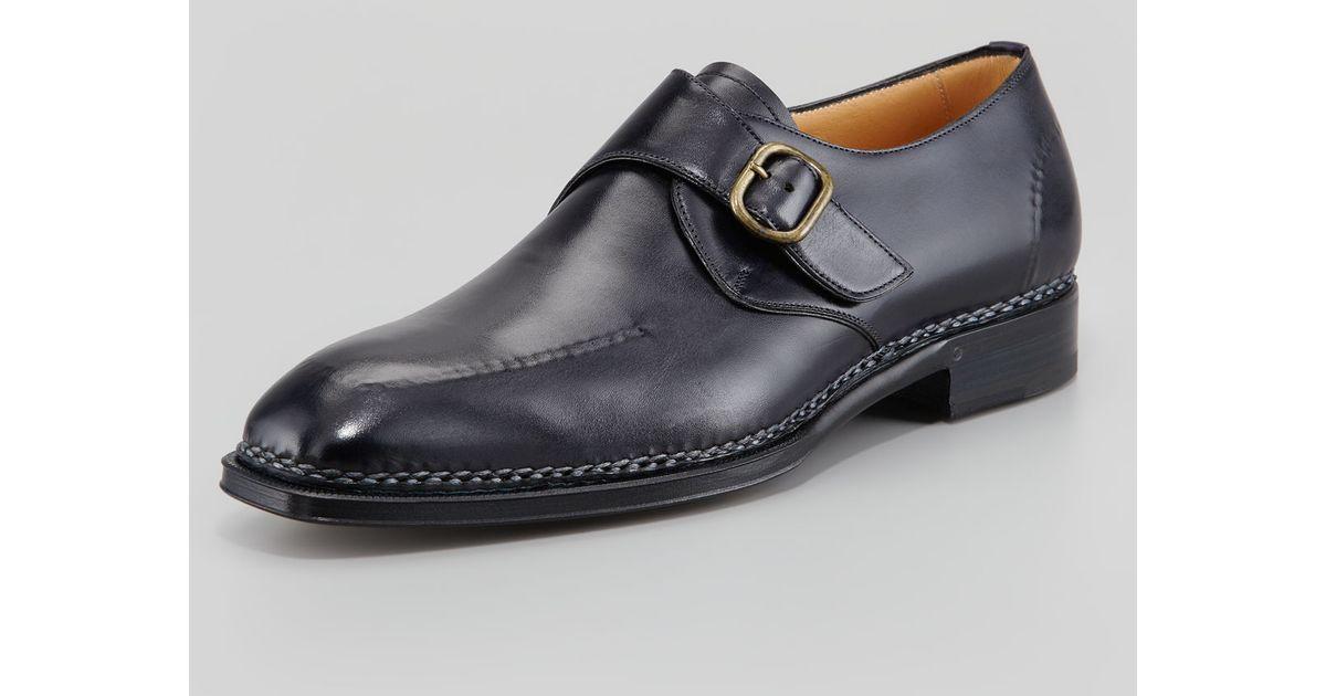 double monk strap shoes - Black Lidfort VZoq4HLXhV