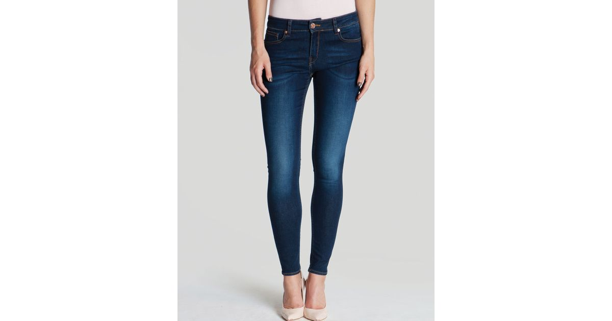 73778430b Lyst - Ted Baker Jeans Morgan Skinny Midwash in Blue