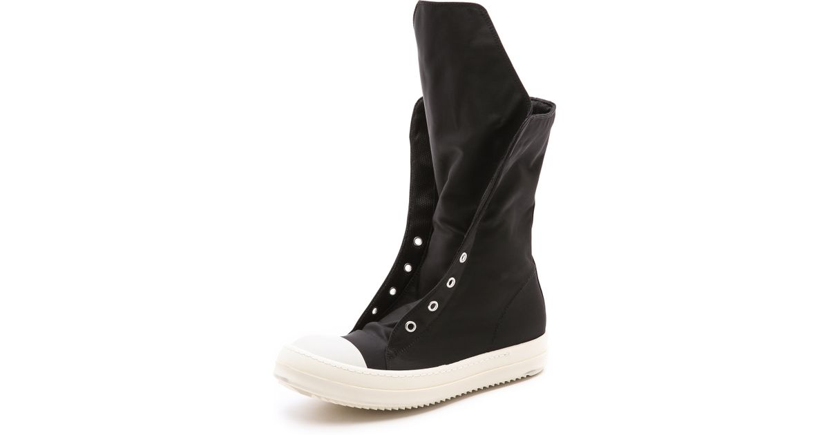 lyst drkshdw by rick owens ramones boots in black