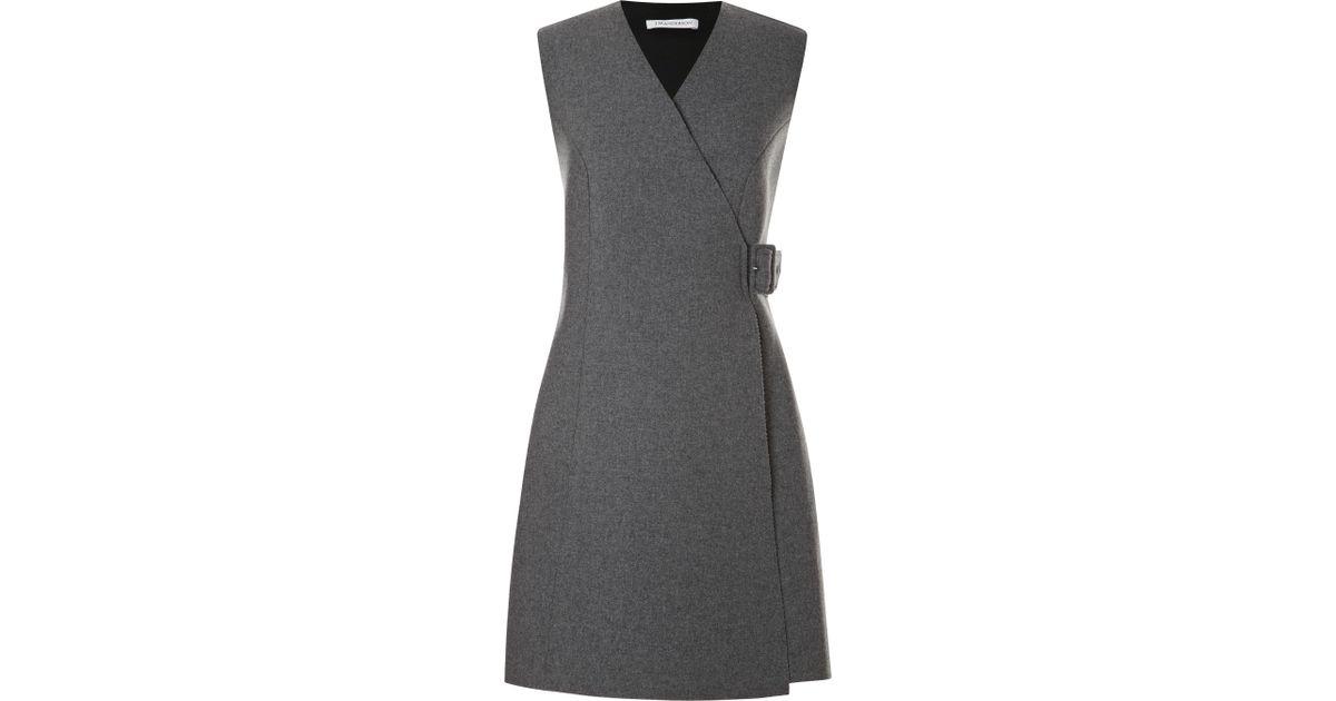 dfb8026c701c8 Lyst - JW Anderson Bonded Neoprene Wool Dress in Gray