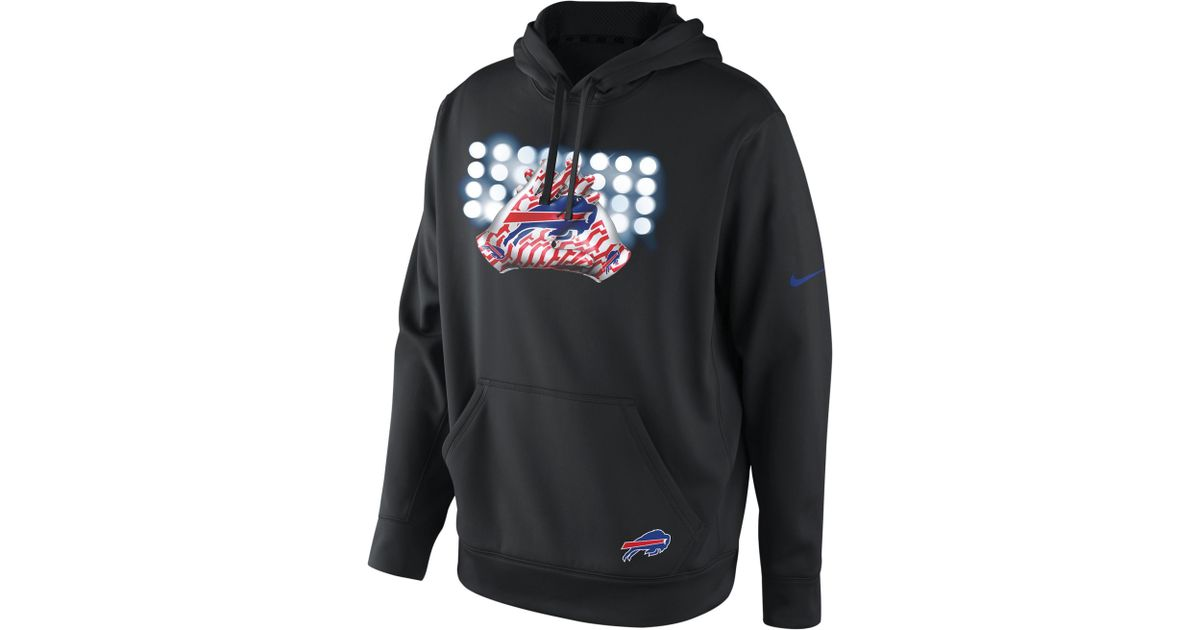 Top Lyst Nike Sweatshirt Thermafit Buffalo Bills Hoodie in Black for Men  for cheap