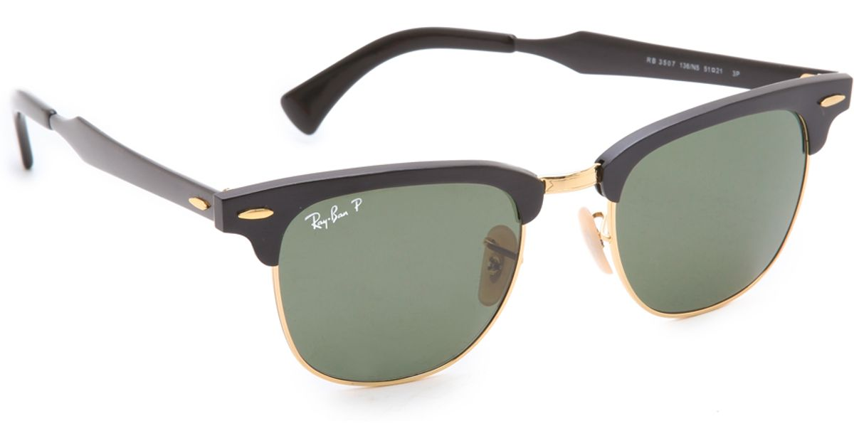 ba5180f1747d0 Lyst - Ray-Ban Oversized Two Tone Clubmaster Sunglasses in Black