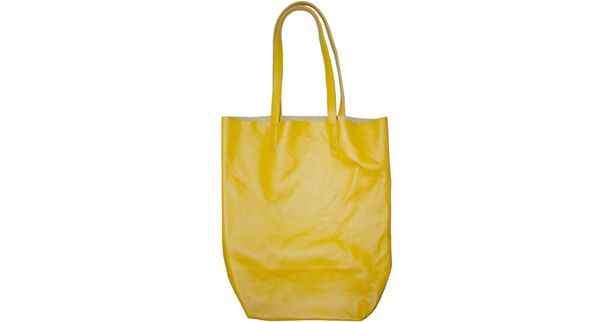 Cynthia Rowley Yellow Baggu Classic Leather Tote Lyst