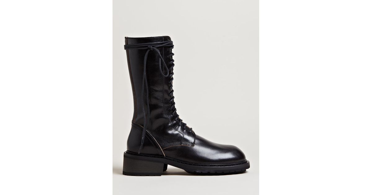 ANN DEMEULEMEESTER 20MM LACE UP LEATHER BOOTS oXDikIk