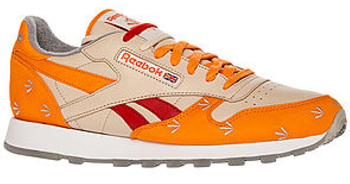 ee3f0b871ab ... Lyst - Reebok The X Gary Warnett Classic Leather Sneaker in Orange for  Men  Reebok Classic Leather R12 ...