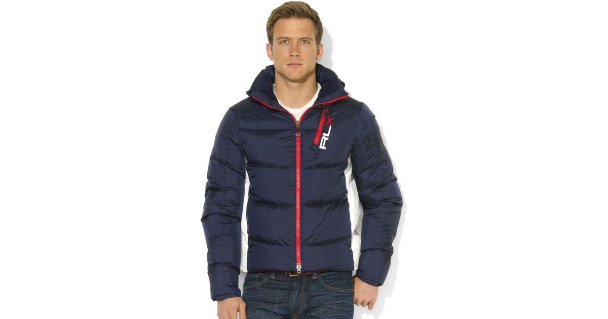 73a19192 Lyst Ralph Lauren Rlx Core Down Jacket In Blue For Men