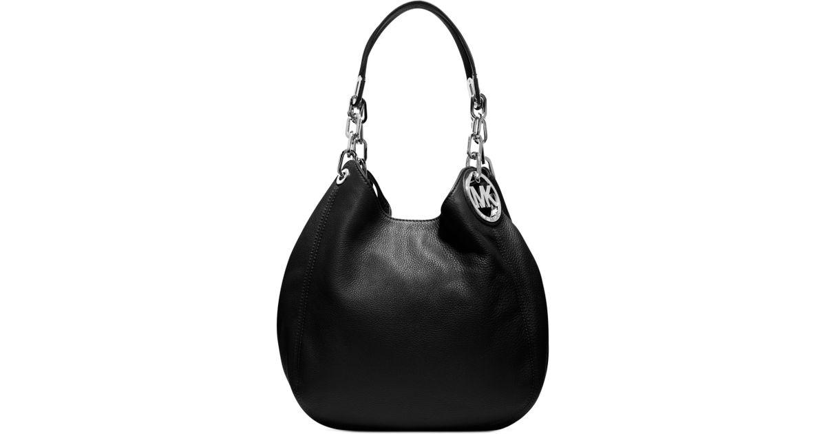 1cebbf0446 Lyst - Michael Kors Fulton Medium Shoulder Bag in Black