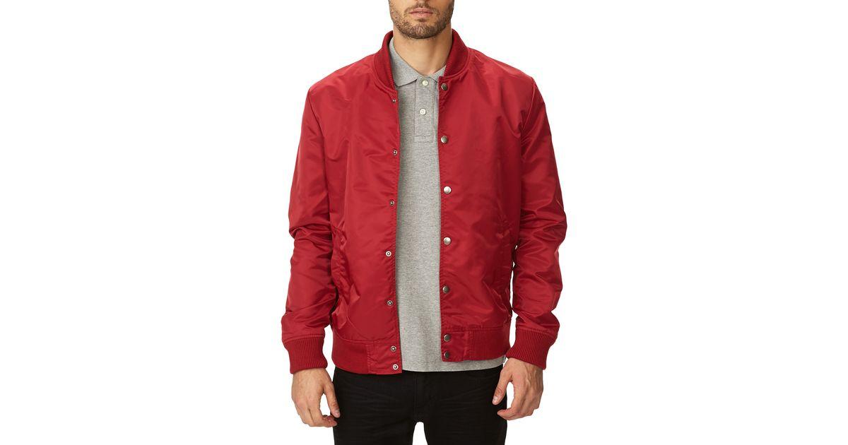 Forever 21 Everyday Bomber Jacket in Red for Men | Lyst