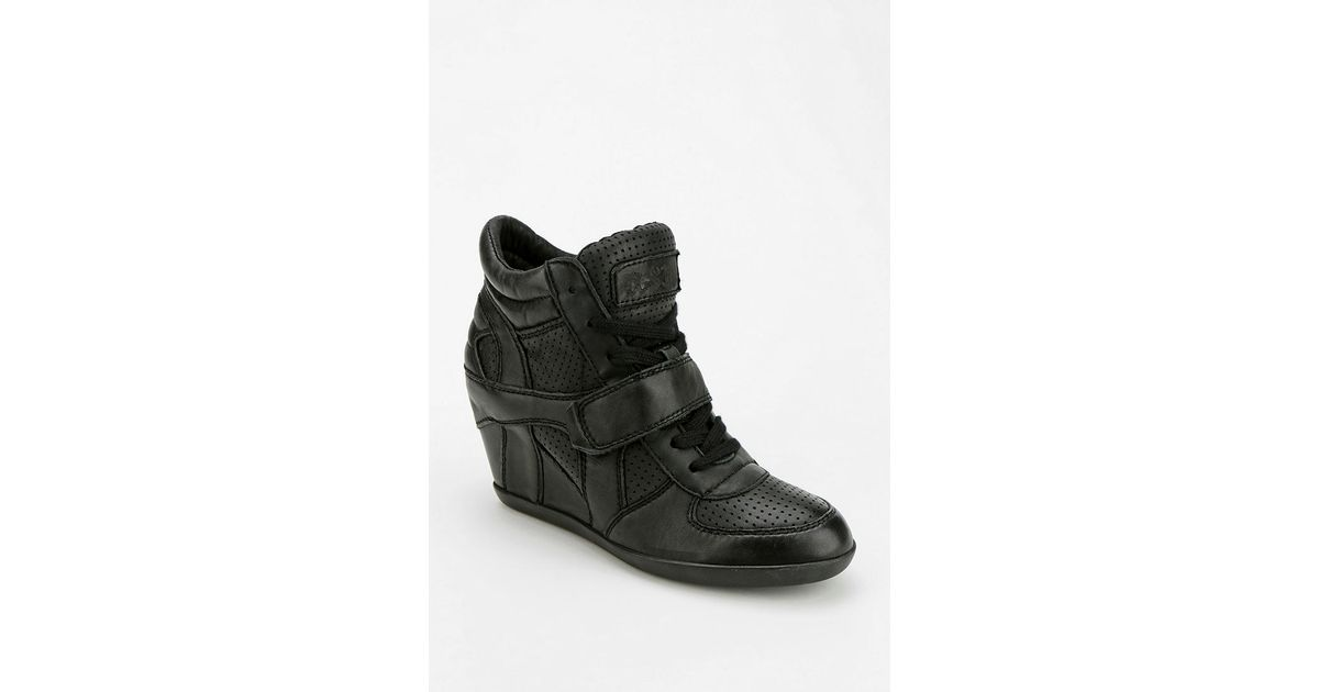 e00b747f271e Lyst - Urban Outfitters Ash Bowie Leather Hidden Wedge Hightop Sneaker in  Black