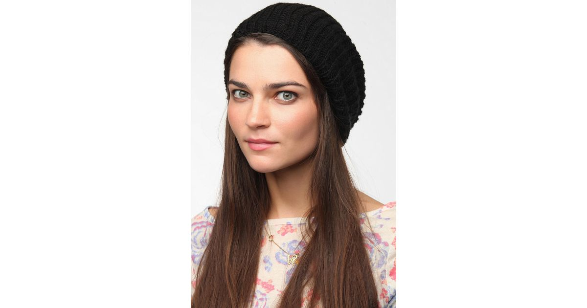 Lyst - Urban Outfitters Bdg Slouchy Beanie in Black 9f2371c1ff85