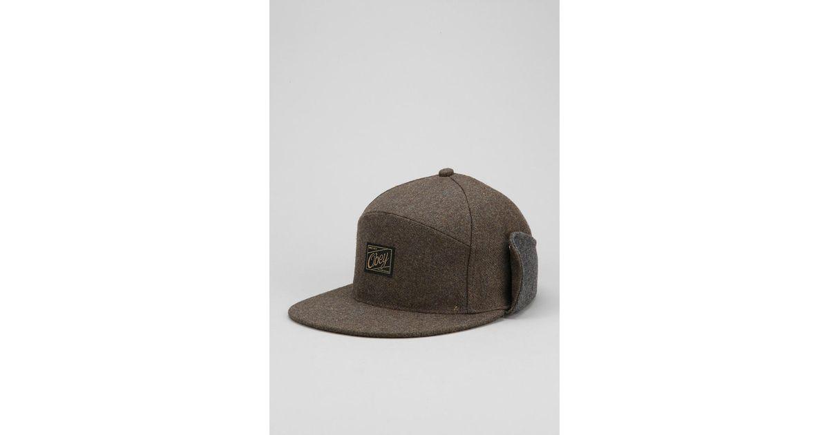 556e229021c98 Urban Outfitters Obey Flintlock Earflap Hat in Green for Men - Lyst