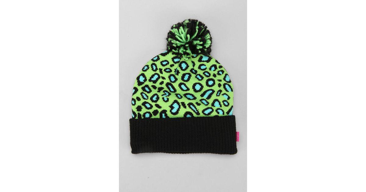 10d72b2d7ec Lyst - Urban Outfitters Mishka Safari Keep Watch Pom Beanie in Green for Men