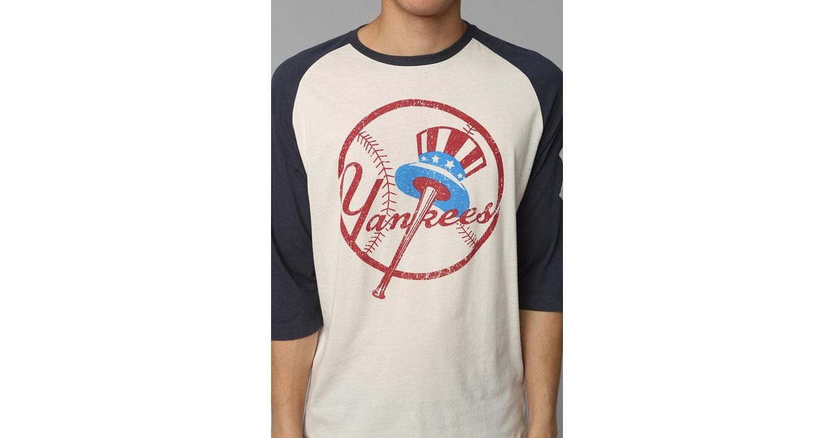 Lyst - Urban Outfitters American Needle Ny Yankees Raglan Tee in Blue for  Men 96abc3f1682