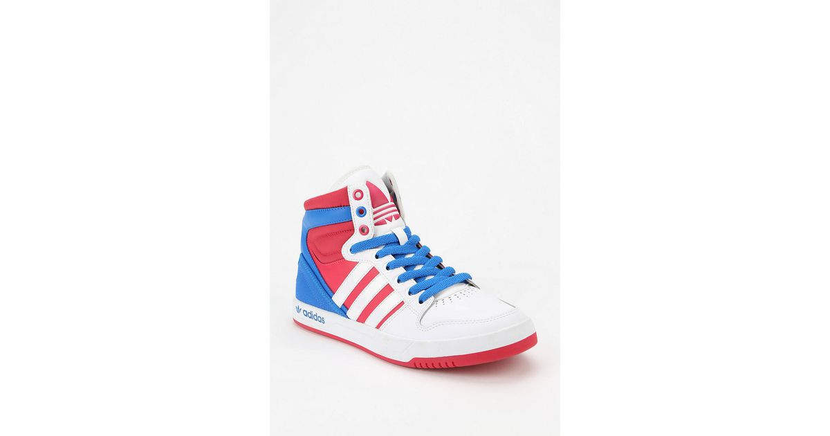 buy popular 1040c c00ca Lyst - Urban Outfitters Adidas Court Attitude Hightop Sneaker in Blue for  Men
