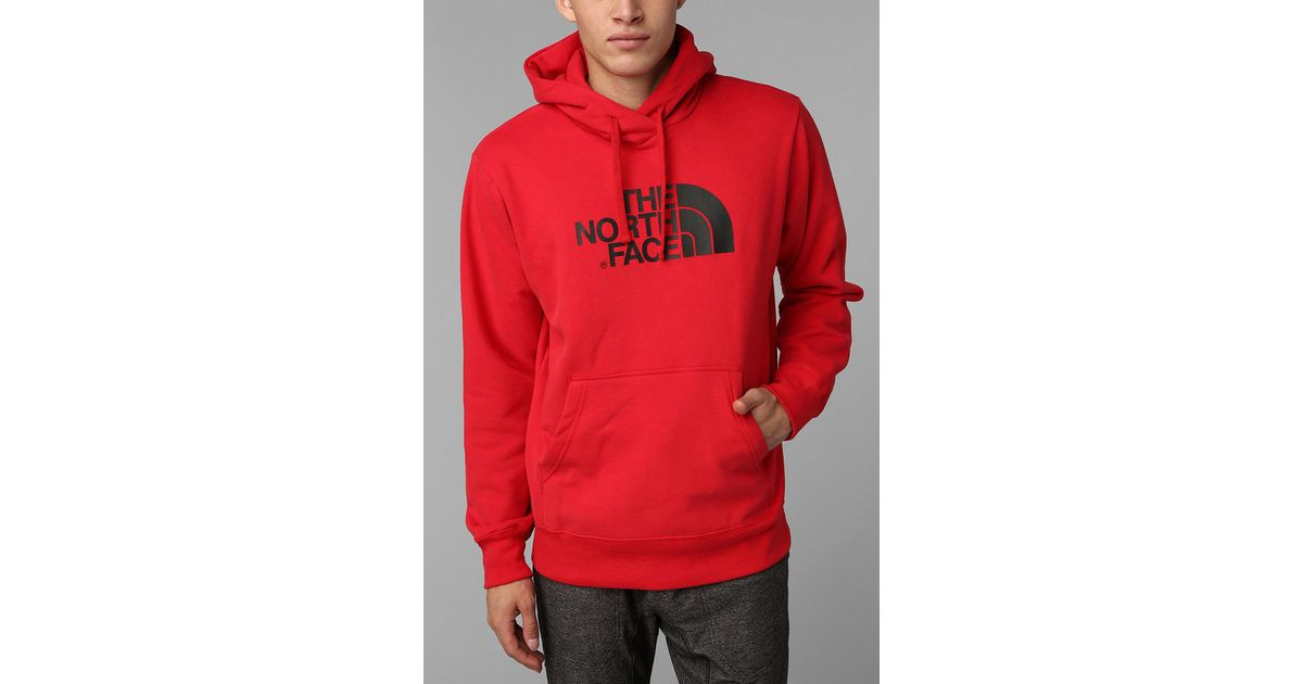 70f72f1c6 Urban Outfitters The North Face Half Dome Pullover Hoodie Sweatshirt in Red  for Men - Lyst