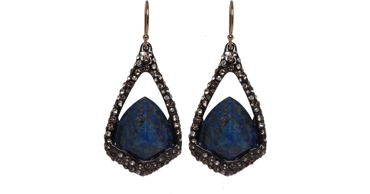 earrings drop lazuli pangea elongated product mines lapis