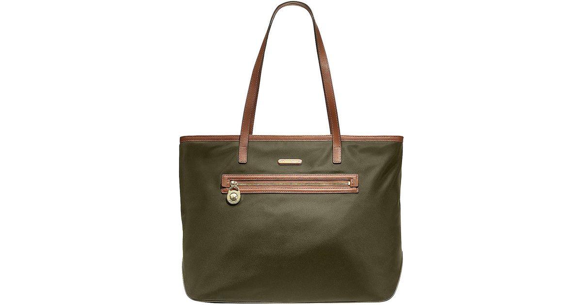 3a0ceb342d3e1f MICHAEL Michael Kors Kempton Large Nylon East West Tote Bag in Green - Lyst