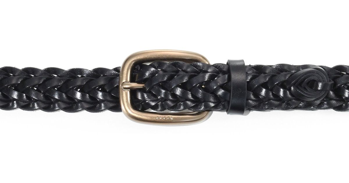 1a68c78e092 Lyst - Gucci Braided Leather Belt in Black for Men