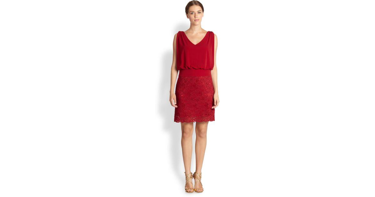 Blouson sleeve lace dress by laundry