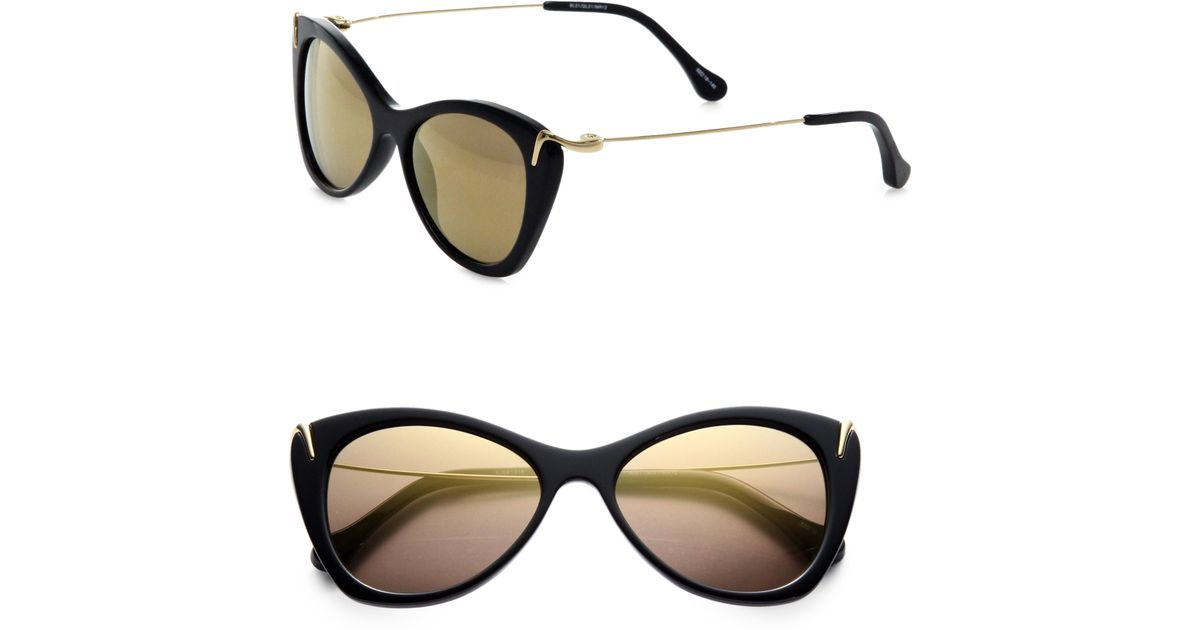 38d2b21ee1 Lyst - Elizabeth And James Fillmore Catseye Sunglasses in Black