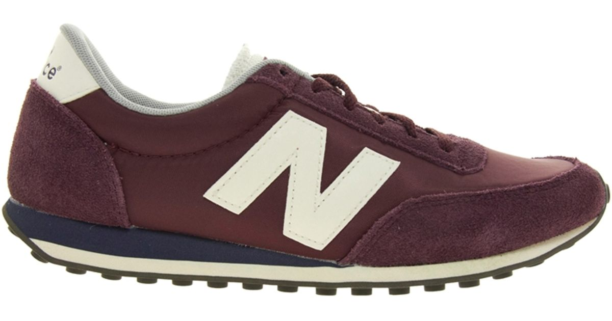 Lyst - New Balance 410 Burgundy Suede and Mesh Trainers in Purple 4588d5118b