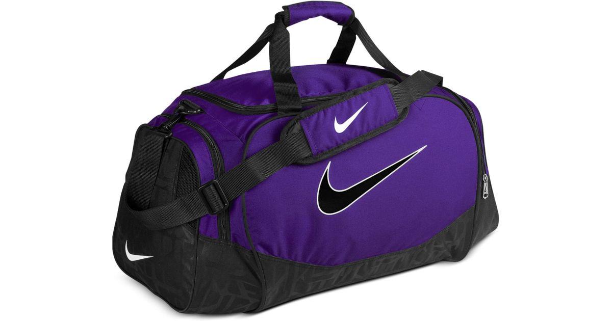 104e46a36c Lyst - Nike Medium Logo Duffle Bag in Purple for Men