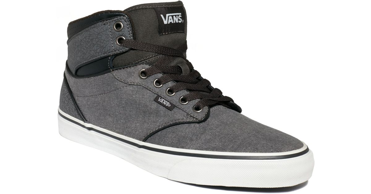 ad26620ced1028 Lyst - Vans Atwood Hi Sneakers in Gray for Men