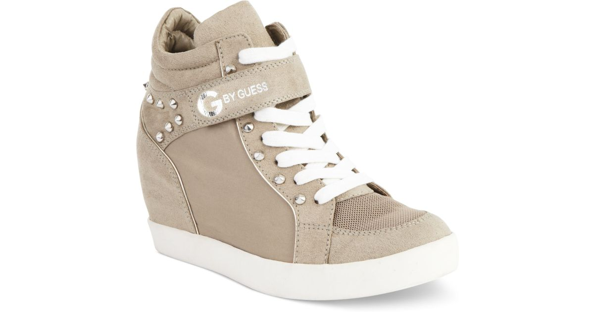 f4fb86326205 Lyst - G by Guess Womens Shoes Pop Star Wedge Sneakers in Natural