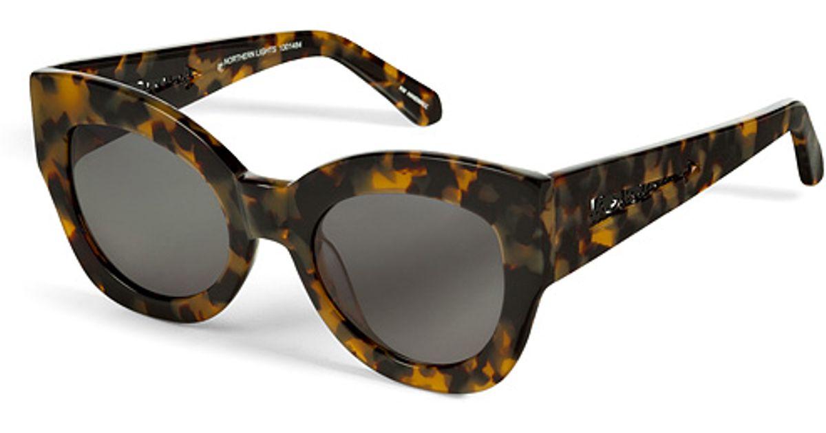 f525115ef7 Karen Walker Northern Lights Sunglasses in Crazy Tortoise in Brown for Men  - Lyst