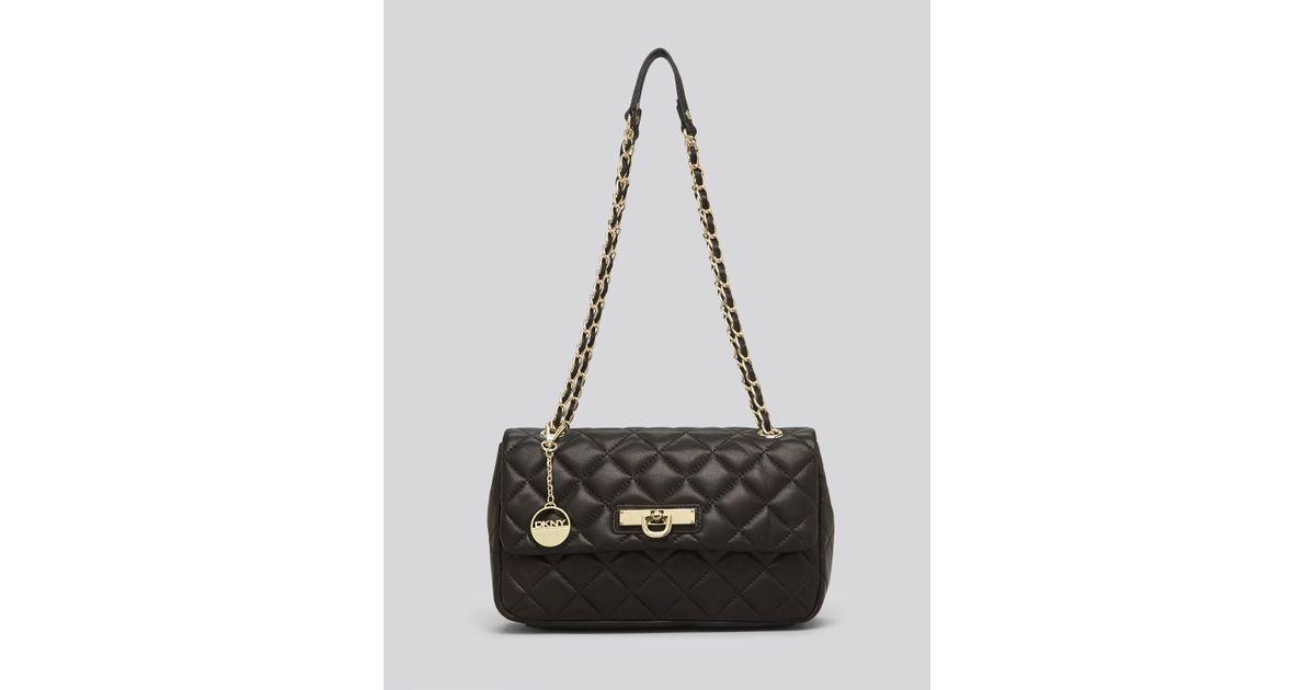 Dkny Shoulder Bag Gansevoort Quilted Nappa in Black | Lyst : dkny quilted shoulder bag - Adamdwight.com