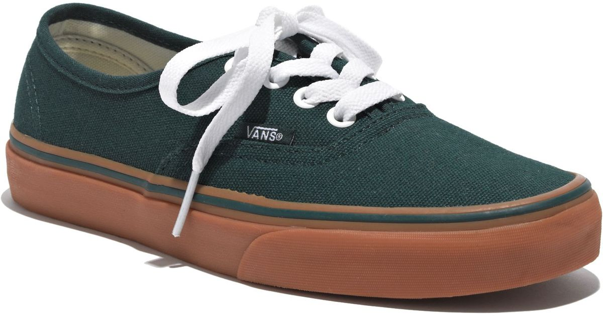30f6333dbe37 ... Lyst - Madewell Vansreg Authentic Gumsole Sneakers in Green buy online  bb650 bffa7