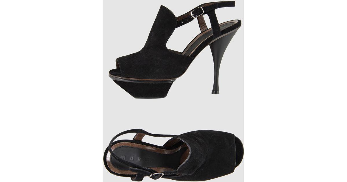 marni platform sandals in black lyst