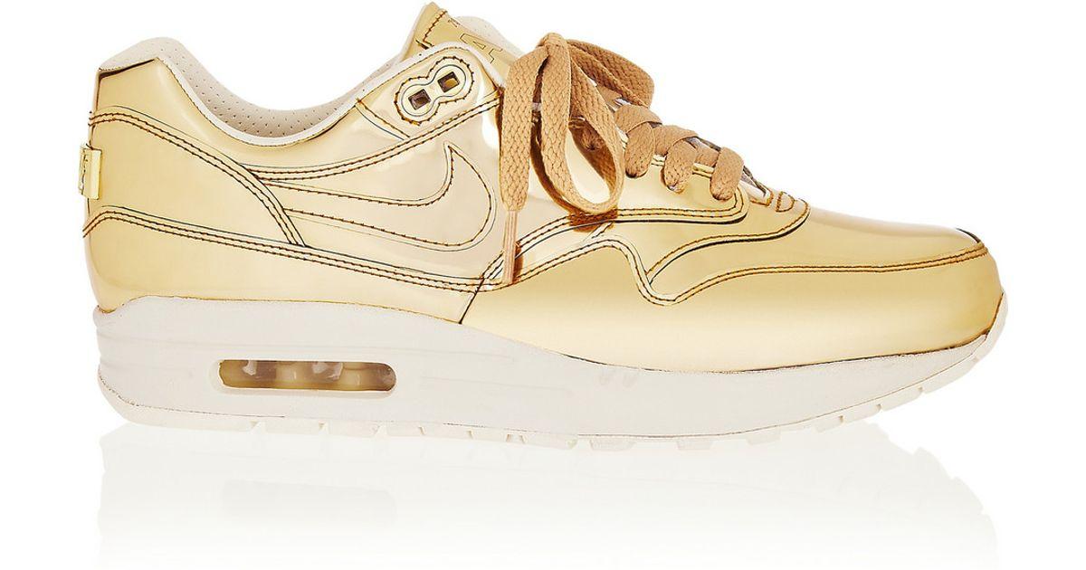 size 40 2ae8c 654aa Nike Air Max Metallic Leather Sneakers in Metallic - Lyst