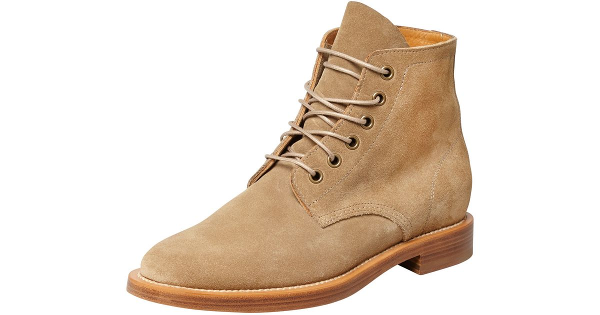 e683aac49b6 Saint Laurent Rangers Suede Laceup Boot Sand in Natural - Lyst